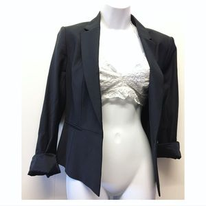 Ann Taylor | Single Button Black Blazer Lined